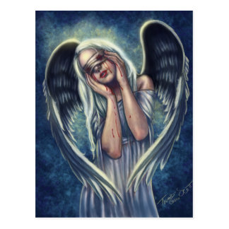 La postal herida del ángel