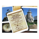 La postal histórica del faro de Stonington