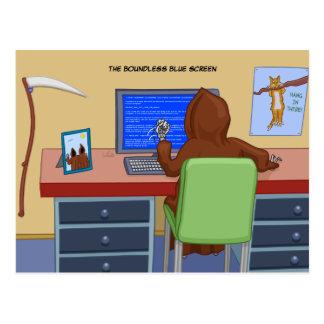 La postal ilimitada de la pantalla azul