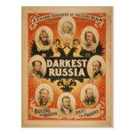 La postal más oscura del poster del vintage de Rus