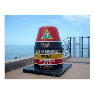 La postal más situada más al sur de Key West la Fl