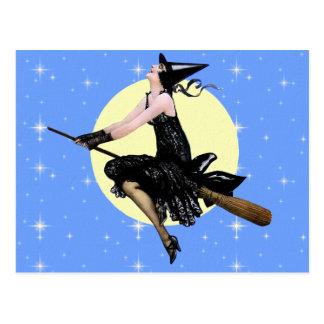 La postal moderna de la bruja