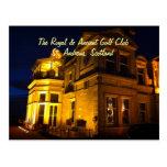 La postal real y antigua del club de golf
