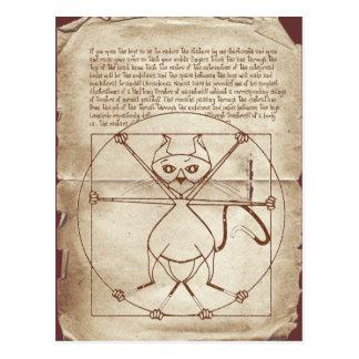 La postal rizada del gatito de Vitruvian