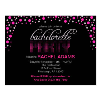 La postal rosada del fiesta de Bachelorette del lu