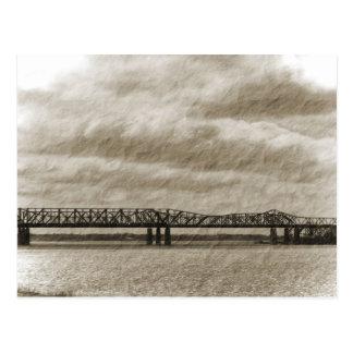 La postal vieja del puente de Memphis