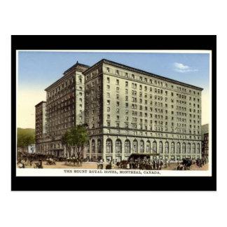 La postal vieja, monta el hotel real, Montreal