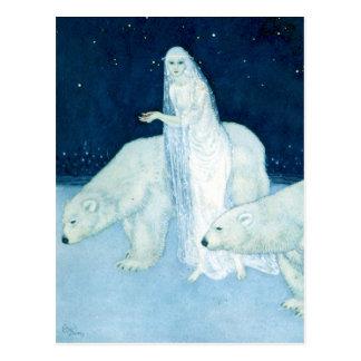 La postal virginal de la bella arte del hielo