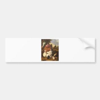 La poule blanche by Melchior d'Hondecoeter Bumper Sticker