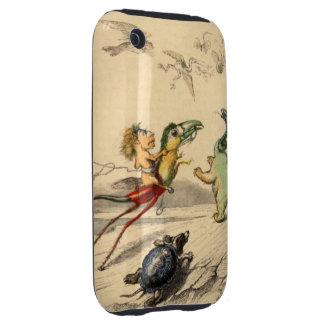 La Poursuite (la caza) iPhone 3 Tough Cárcasas