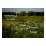 La pradera florece la tarjeta con el poema del rom