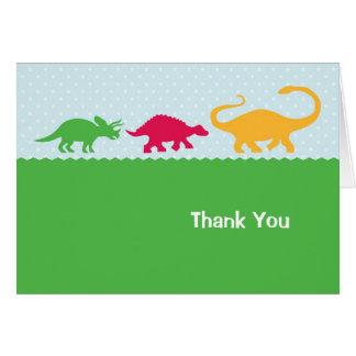 La precipitación del dinosaurio le agradece cardar tarjeta pequeña