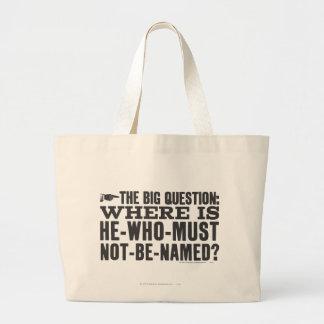 La pregunta grande bolsa lienzo