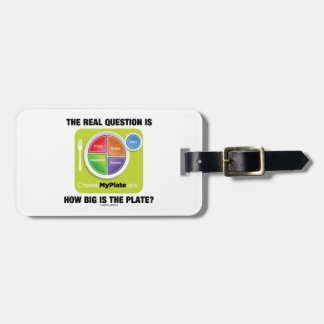 ¿La pregunta real es cómo es grande es la placa? Etiquetas Bolsas