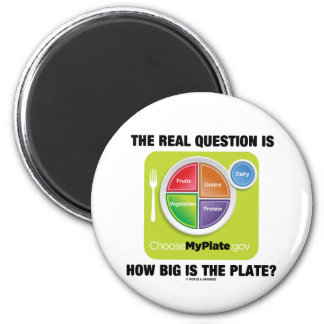 ¿La pregunta real es cómo es grande es la placa? Imán De Frigorífico