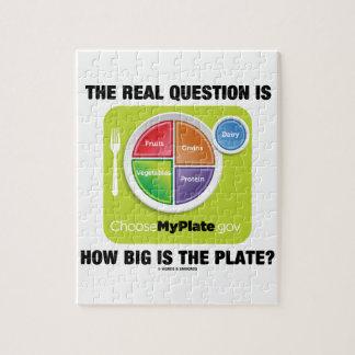 ¿La pregunta real es cómo es grande es la placa? Rompecabeza Con Fotos