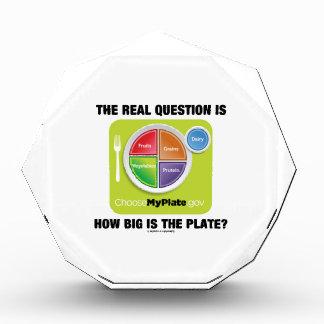 ¿La pregunta real es cómo es grande es la placa?
