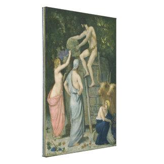 La prensa de vino de Pedro Puvis de Chavannes Impresión En Lienzo