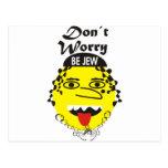 La preocupación de Don´t sea judía Postal