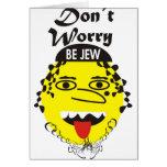 La preocupación de Don´t sea judía Tarjeta