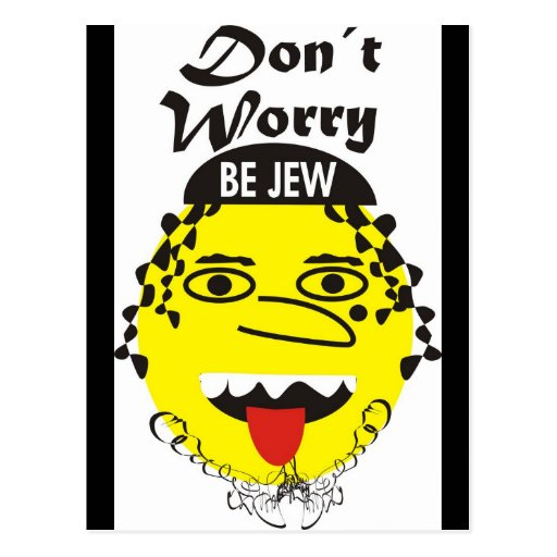 La preocupación de Don´t sea judía Tarjetas Postales