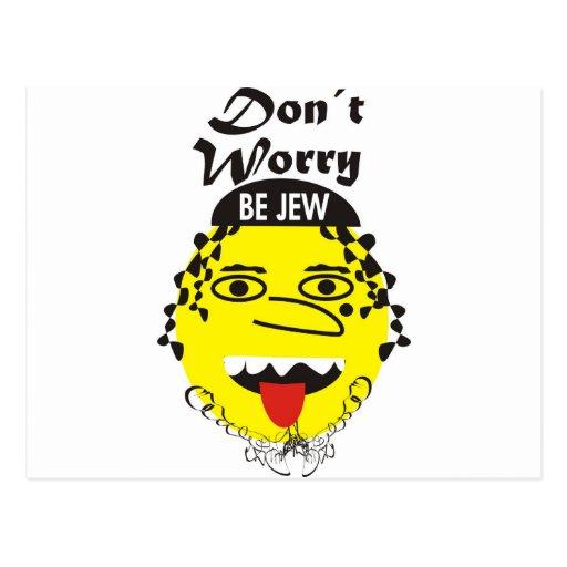 La preocupación de Don´t sea judía Postales