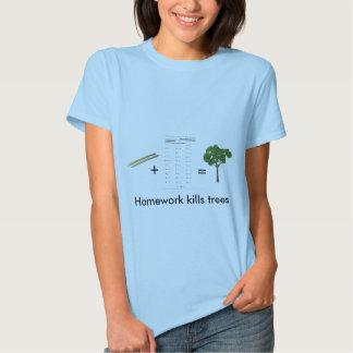 La preparación mata a los árboles (para mujer) remeras