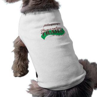 La prescripción arrastra el top del perrito camiseta de perro
