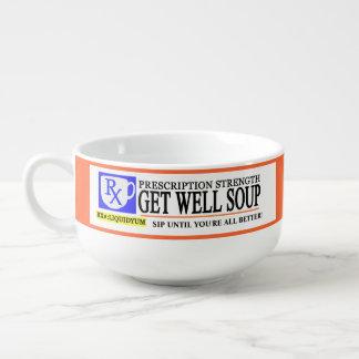 La prescripción divertida consigue bien tazón para sopa