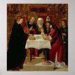 La presentación de la circuncisión en el templo póster
