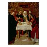 La presentación de la circuncisión en el templo tarjeta de felicitación