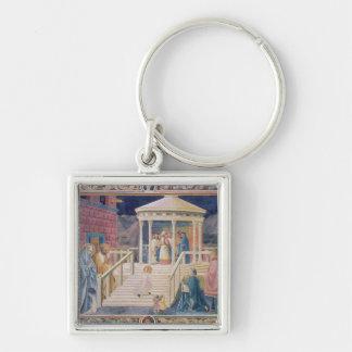 La presentación del Virgen María bendecido Llavero Personalizado