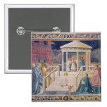 La presentación del Virgen María bendecido Pin Cuadrado