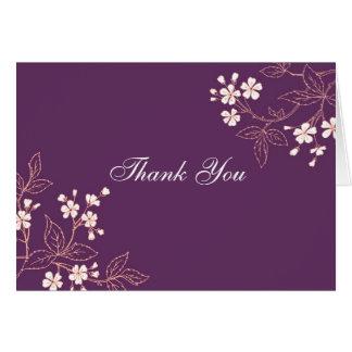 La presentadora floral de la fiesta de bienvenida tarjeta de felicitación