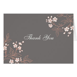 La presentadora floral gris coralina de la fiesta tarjeta de felicitación