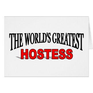 La presentadora más grande del mundo tarjeta de felicitación