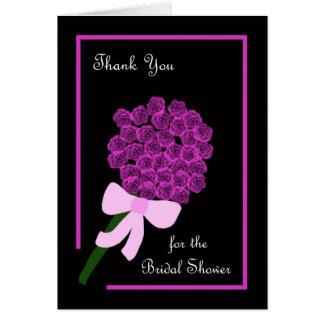 La presentadora nupcial de la ducha de los rosas l tarjeta de felicitación
