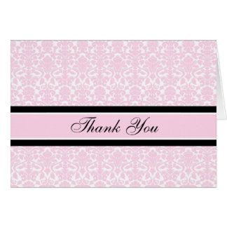 La presentadora rosada de la fiesta de bienvenida tarjeta de felicitación