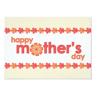 """La primavera anaranjada del día de madre florece invitación 5"""" x 7"""""""