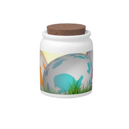 La primavera animal linda florece el conejito de p jarras para caramelos