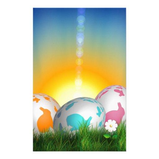 La primavera animal linda florece el conejito de p papelería