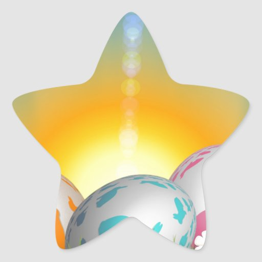 La primavera animal linda florece el conejito de p pegatinas forma de estrella personalizadas