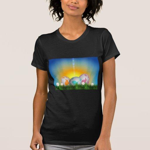 La primavera animal linda florece el conejito de p camisetas