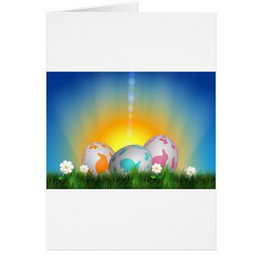 La primavera animal linda florece el conejito de p felicitaciones