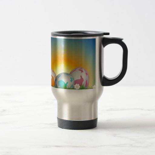 La primavera animal linda florece el conejito de p taza de café