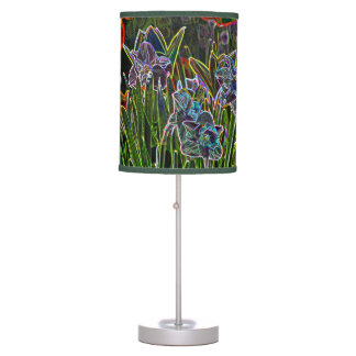 La primavera artsy florece la lámpara