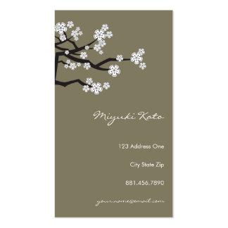 La primavera blanca de Sakura de las flores de cer Plantillas De Tarjetas Personales
