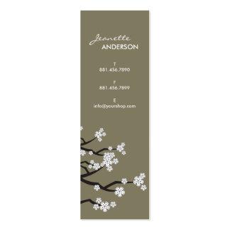 La primavera blanca de Sakura de las flores de cer Plantilla De Tarjeta De Visita