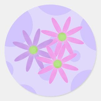 La primavera bonita florece los pegatinas pegatinas redondas
