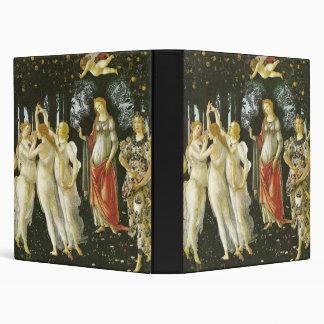 La Primavera by Sandro Botticelli 3 Ring Binders